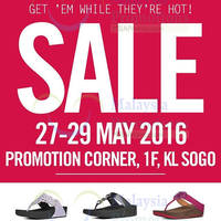 FitFlop is having a Sale at KL Sogo featuring exclusive markdowns till 29 May 2016