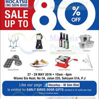 Read more about Hocatsu Warehouse Sale at Petaling Jaya from 27 - 29 May 2016