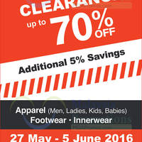 Hush Puppies will be having a Off Season Clearance from 27 May - 5 Jun 2016 at Ipoh, Enjoy up to 70% off.