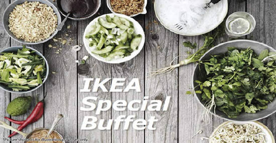 ikea special buffet tickets available from 16 may 2016. Black Bedroom Furniture Sets. Home Design Ideas