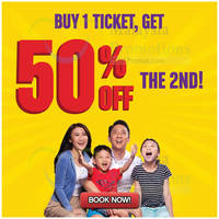 Buy 1, Get 2nd Ticket at 50% OFF. Save Up To RM112 for 2 persons! Legoland Malaysia Resort is delighted to bring you the exclusive offer of the month, when purchasing one full priced ticket you get a second for half of the price.