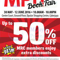 MPH will be having a Book Fair at DPulze Shopping Centre, Cyberjaya from 30 May - 12 June!