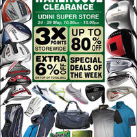 MST Golf will be having a Warehouse Sale at Udini Super Store from 24 May to 29 May 2016, 10am to 10pm