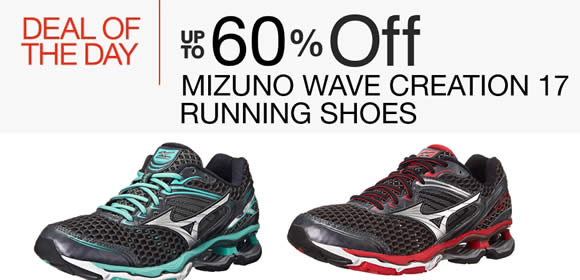 Read more about Mizuno 60% Off Wave Creation 17 Running Shoes 24hr Deal from 24 - 25 May 2016