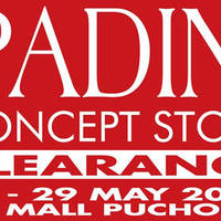 Padini will be having a Stock Clearance at Padini Concept Store IOI Mall Puchong from 20th - 29th May.
