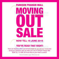 Read more about Parkson Prangin Mall Moving Out Sale from 23 May - 15 Jun 2016