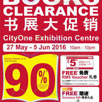 Enjoy rock bottom prices at POPULAR Books Clearance CityOne Exhibition Centre from 27 May to 5 June!