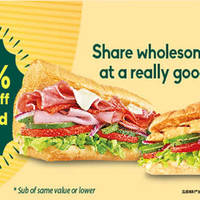 Read more about Subway 50% OFF the 2nd Sub from 1 Apr - 31 May 2016