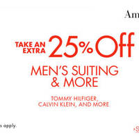 Read more about Amazon.com 25% OFF Men's Suiting & More (NO Min Spend) Coupon Code from 22 Jun - 19 Jul 2016