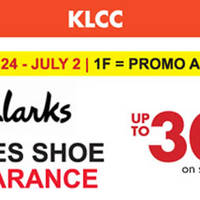 Read more about Clarks Ladies Shoe Clearance at KLCC from 24 Jun - 2 Jul 2016