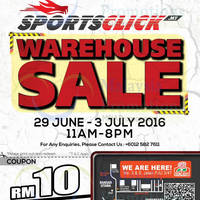 Sunlight Galaxy will be having a warehouse sale from 29 June to 13th July 2016 at Sunway Damansara Technology Park, 11am - 8pm