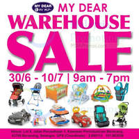 """My Dear"" Warehouse Sale is back featuring on various Baby and Children products from 30 June to 10 July 2016 at Kawasan Perindustrian Beranang."