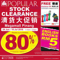 Read more about POPULAR Stock Clearance at Megamall Pinang from 24 Jun - 10 Jul 2016