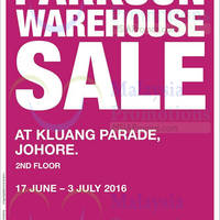 Read more about Parkson Warehouse Sale at Kluang Parade from 17 Jun - 3 Jul 2016