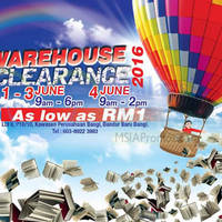 Pelangi Warehouse Clearance 2016 will be happening from 1 June to 3 June (9am-6pm) & 4 June (9am-2pm). Books priced as low as RM 1.00