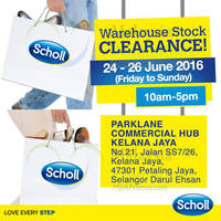 Scholl Shoes is having a warehouse stock clearance till 26 June 2016, 10am to 5pm daily