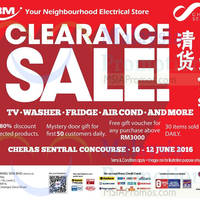 Read more about Tan Boon Ming TBM Clearance Sale at Cheras Sentral from 10 - 12 Jun 2016