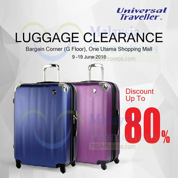 Universal Traveller Luggage Clearance Sale at 1 Utama from 9 – 19 ...