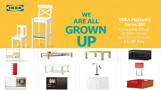 IKEA 20th Anniversary Deals Feat 10 Jul 2016