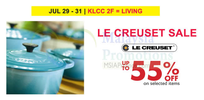 le creuset sale at isetan klcc from 29 31 jul 2016. Black Bedroom Furniture Sets. Home Design Ideas