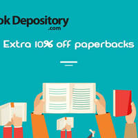 Get an extra 10% off already great priced Paperback Books at The Book Depository