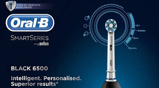 Oral-B Smart Series 6500 Electric Rechargeable Toothbrush Feat