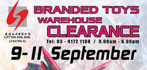 Litt Tak: Branded Toys Warehouse Clearance at Kuala Lumpur from 9 – 11 Sep 2016
