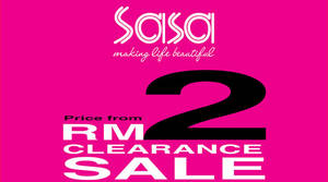 Sasa: Clearance Sale – Price from RM2 Onwards at Evolve Concept! From 16 – 20 Aug 2017