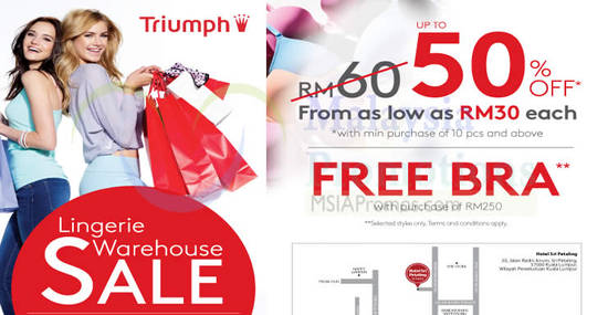 Triumph Lingerie Warehouse Feat 6 Sep 2016