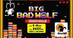 Big Bad Wolf Books Sale at Kuala Lumpur MIECC from 9 – 19 Dec 2016