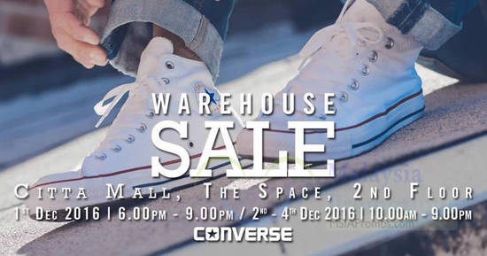 Converse Warehouse Sale Feat 28 Nov 2016