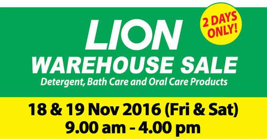 Lion Warehouse Sale Feat 1 Nov 2016