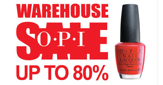 OPI Warehouse Sale Feat 9 Nov 2016