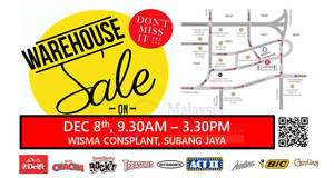 Delfi Marketing warehouse sale at Wisma Consplant, Subang Jaya on 8 Dec 2016