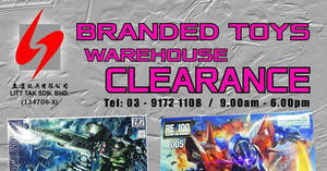 Litt Tak branded toys warehouse clearance at Kuala Lumpur from 8 – 11 Dec 2016