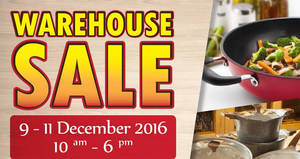 Oasis Swiss warehouse sale offers up to 80% off household products at Puchong from 9 – 11 Dec 2016