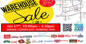 Delfi Marketing (Meiji, Kellogg's, Pringles, etc) warehouse sale at Wisma Consplant, Subang Jaya on 17 Jan 2017