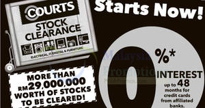 Courts has started its Stock Clearance from 18 Feb 2017