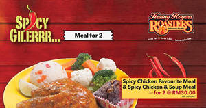 Kenny Rogers Roasters: RM30 (NP: RM 42.40) Spicy Chicken meal for two from 27 Mar – 9 Apr 2017