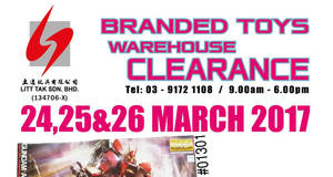 Litt Tak branded toys warehouse clearance at Kuala Lumpur from 24 – 26 Mar 2017