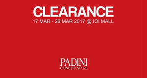 Padini clearance sale at IOI Mall Puchong from 17 – 26 Mar 2017