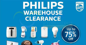 Philips warehouse sale at Petaling Jaya offers discounts of up to 75% OFF! From 5 – 7 May 2017