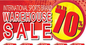 World Of Sports warehouse sale at Sri Petaling Hotel from 27 Apr – 7 May 2017