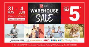 Baby Kiko, Kiko, John Master & Schwarzenbach warehouse sale at Puchong from 31 May – 4 Jun 2017