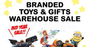 RB Zicon branded toys & gifts warehouse sale returns from 30 May – 3 Jun 2017