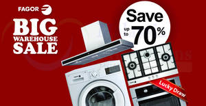 Fagor home appliances warehouse sale at Shah Alam from 4 – 6 Aug 2017