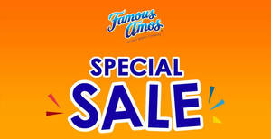 Famous Amos special SALE at SS2 Petaling Jaya! From 28 – 30 Jul 2017