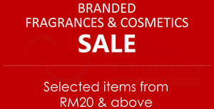 Branded fragrances & cosmetics sale at Mid Valley! From 26 – 28 Jul 2017