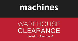 Machines Apple products warehouse clearance at Avenue K! From 28 – 30 Jul 2017