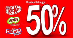 Nestle: Up to 50% Off KitKat, Milo Nuggets & more at SACC Mall! From 28 – 29 Jul 2017